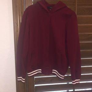 F21 Varsity Jacket w/ hood